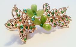 Hair Accessory Hair Clip Clips in Rhinestones  and Jade Acce