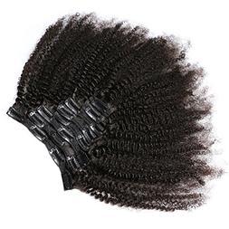KeLang Hair African American Afro Kinky Curly Clip In Human