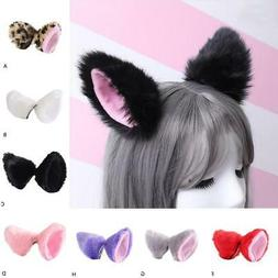 hair bands for party Headbands Fox Ear  Clip Plush Cat