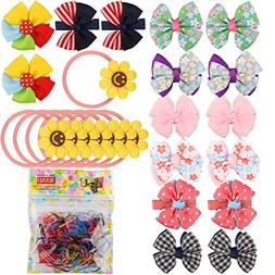 16 PCS Baby Girls Hair Bows Clips Hairpin Barrettes,100 PCS