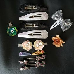 Hair Care Accessories LOT Hair Clips Ties Bands Butterfly Fl