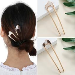 Hair Care Styling Tools Metal Hair Stick alloy U Shape Hair