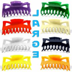 """Hair Claw Clip Large Size 4.5"""" Plastic Butterfly Clips Choos"""