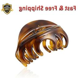 Hair Claw Clip Organic Glass Strong Holding Power Clips Clam