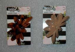 SCUNCI HAIR CLAW JAW CLIP FRANGIPANI FLOWER CHOOSE COLOR TAN
