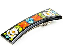 Hair Clip Barrette Hair Pin Traditional Ukrainian Petrykivka