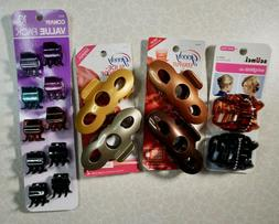 Hair Clip Lot Claw Jaw Scunci Wingless Goody Stay Put Slide