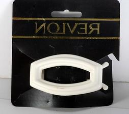 REVLON Hair Clip White Plastic Hair Clip Traditional Look Ac
