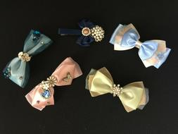 Hair clips, dimond, butterfly, bow style