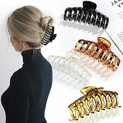 """Hair Clips for Thick Hair 4pcs 4.3""""Large Hair Claw Clips f"""