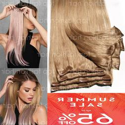 hair extensions real remy 8pcs clip in