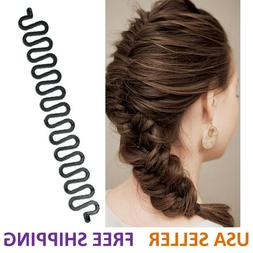 Hair French Braid Clip Magic Styling Stick DIY Bun Maker Too