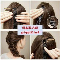 Hair French Braid Clip Roller Magic Styling Stick DIY Bun Ma