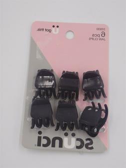 Scunci Hair Jaw Clips Mini Claw Clips 6 Pack Black Barettes