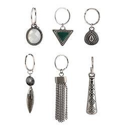 hair pierced braid ring set