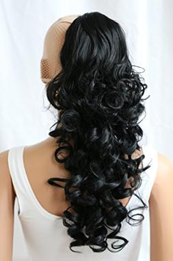 """PRETTYSHOP 24"""" Hair Piece Ponytail Clip On Extension Long Vo"""