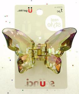 Scunci Hair Styling Butterfly Claw Clip ~ Very Pretty ~ Gray