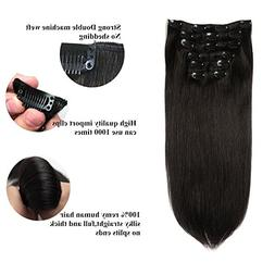 Lovbite Hair Virgin Brazilian Hair Clip In Human Hair Extens