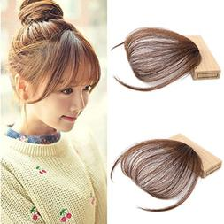 Lady Miranda Hand Tied Human Hair Pue Color Front Fringe wit