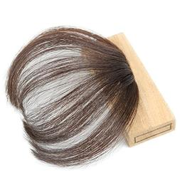 Lady Miranda Hand Tied Human Hair Pue Color Front Fringe Cli