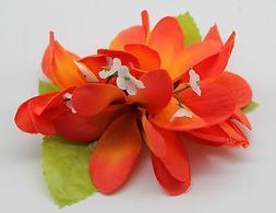 Hawaii Hair Clip Lei Party Luau Plumeria Flower Dance Beach