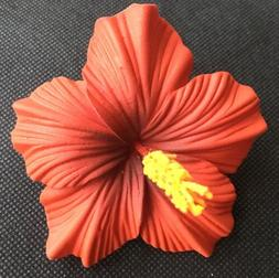 Hawaiian Foam Hibiscus Flower Hair CLIP Aloha RED Wedding Br