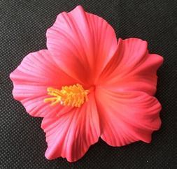 Hawaiian Foam Hibiscus Flower Hair CLIP Sherbet Pink Wedding