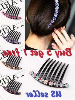 High quality 7 Tooth  Rhinestone French Twist Comb Hair Clip
