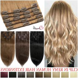 Highlight 100% Remy Human Hair Clip in Real Hair Extensions