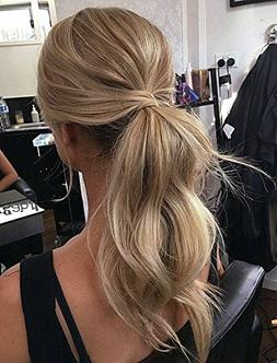 Ugeat 20inch Highlight Color Blonde Ponytail Hair Extensios