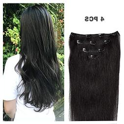 """12"""" Human Hair Extensions Clip in Remy Hair for Women Beauty"""