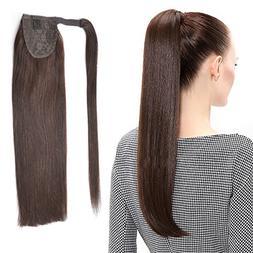 "22"" Human Hair Ponytail Wrap Around Clip in Ponytail Hair Ex"