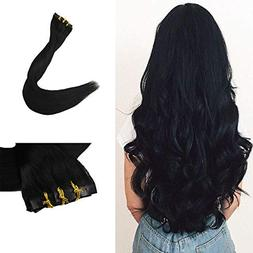 Full Shine 8 Pieces 20 inch 120g Color #1 Jet Black Seamless