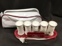 VIDAL SASSOON JETSETTER 5 HOT ROLLERS HAIR CURLERS W/ CLIPS,