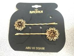 Karina Flower Fashion Hair Pin Barrette 1 pair