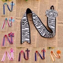 kids girls bow hair clip ribbon holder