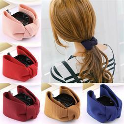 Korean Sweet Fabric Bow <font><b>Hair</b></font> <font><b>Cl