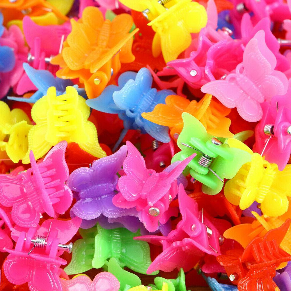 100Pcs Butterfly Clips Claw Barrettes Mini Clip Girls