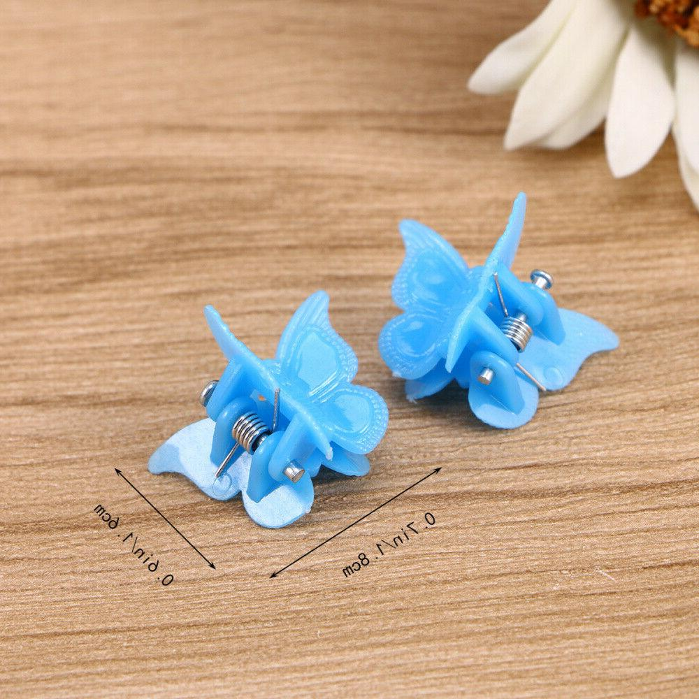 100Pcs Butterfly Clips Claw Clip Hairpin Girls