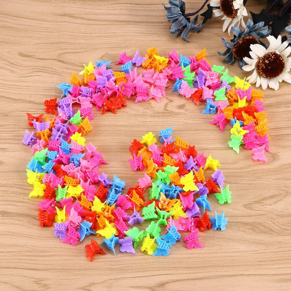 100Pcs Butterfly Claw Clip Hairpin Women Girls
