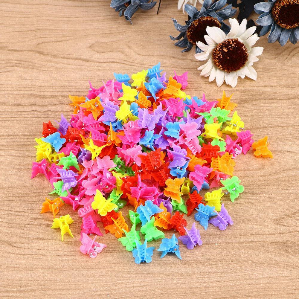 100 Hair Mini Claw Clips Butterfly Clamp Jaw Riser Bulldog C