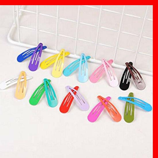 100 Solid Color Barrettes for Kids Hair Clip Kit New