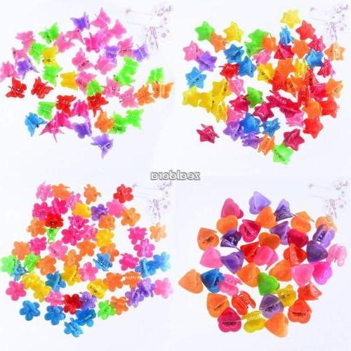 100 pcs kids baby girls candy colour