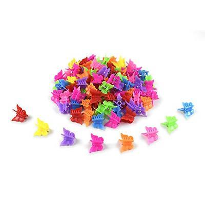 100 pcs mini butterfly hair clips plastic
