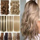 100% Natural Long Thick Clip in Full Head Layered Hair Exten