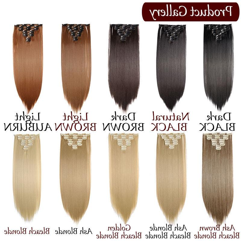 100% Natural New Hair Clip Extensions 8 Full Head Long As