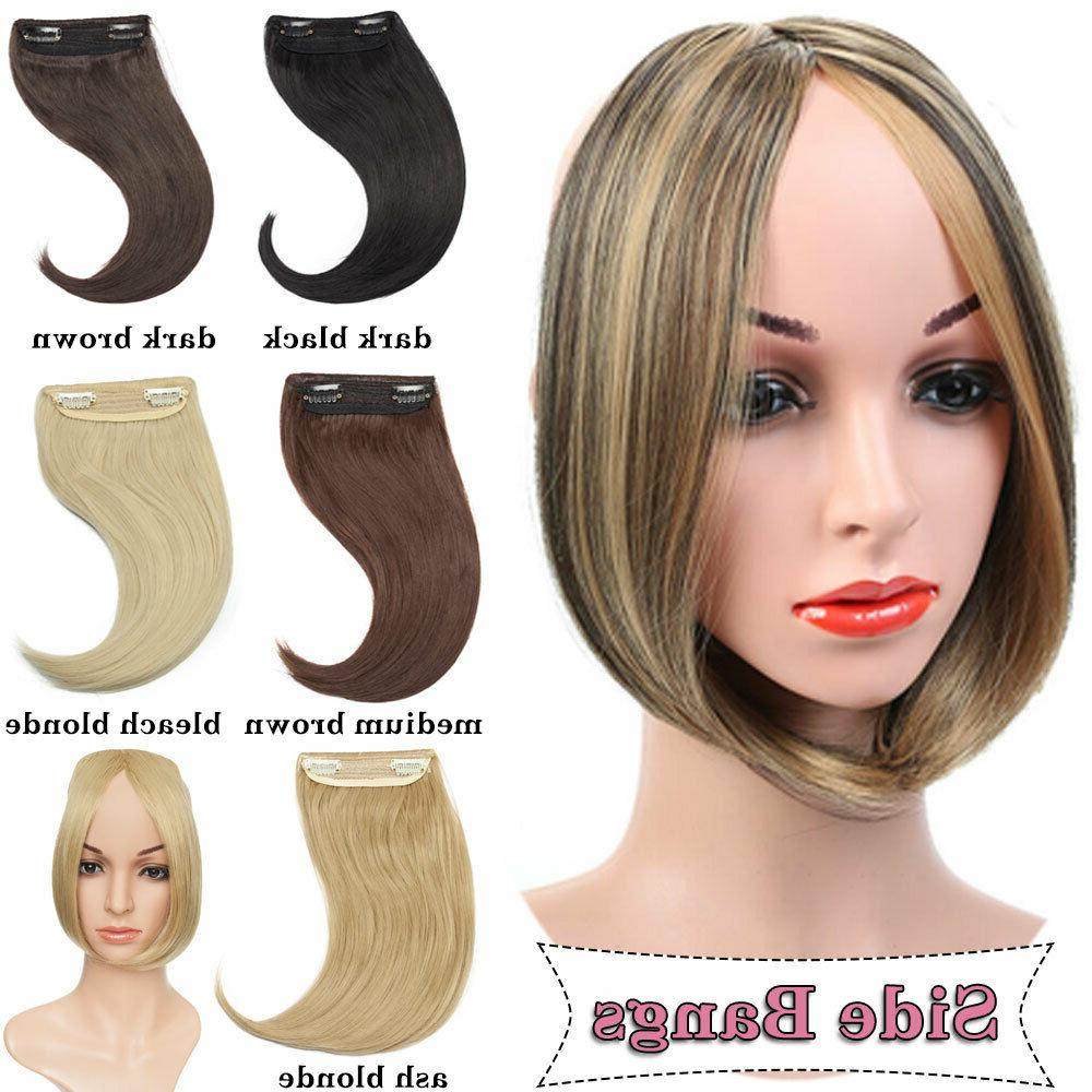 100% Clip In Synthetic Bangs Fringe Hair Extensions Soft Hair