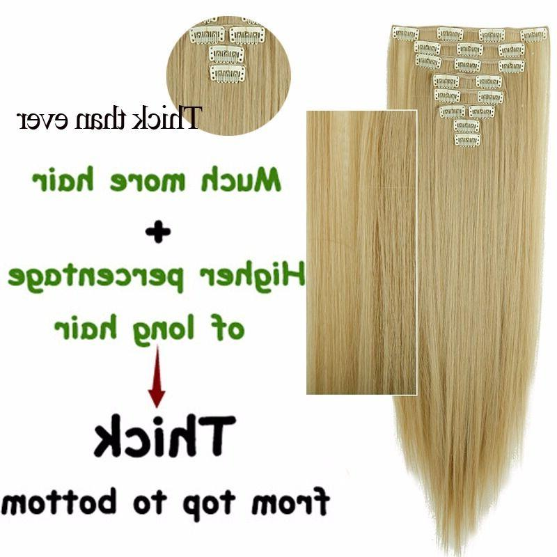 100% Real human Head Clip Extensions Synthetic