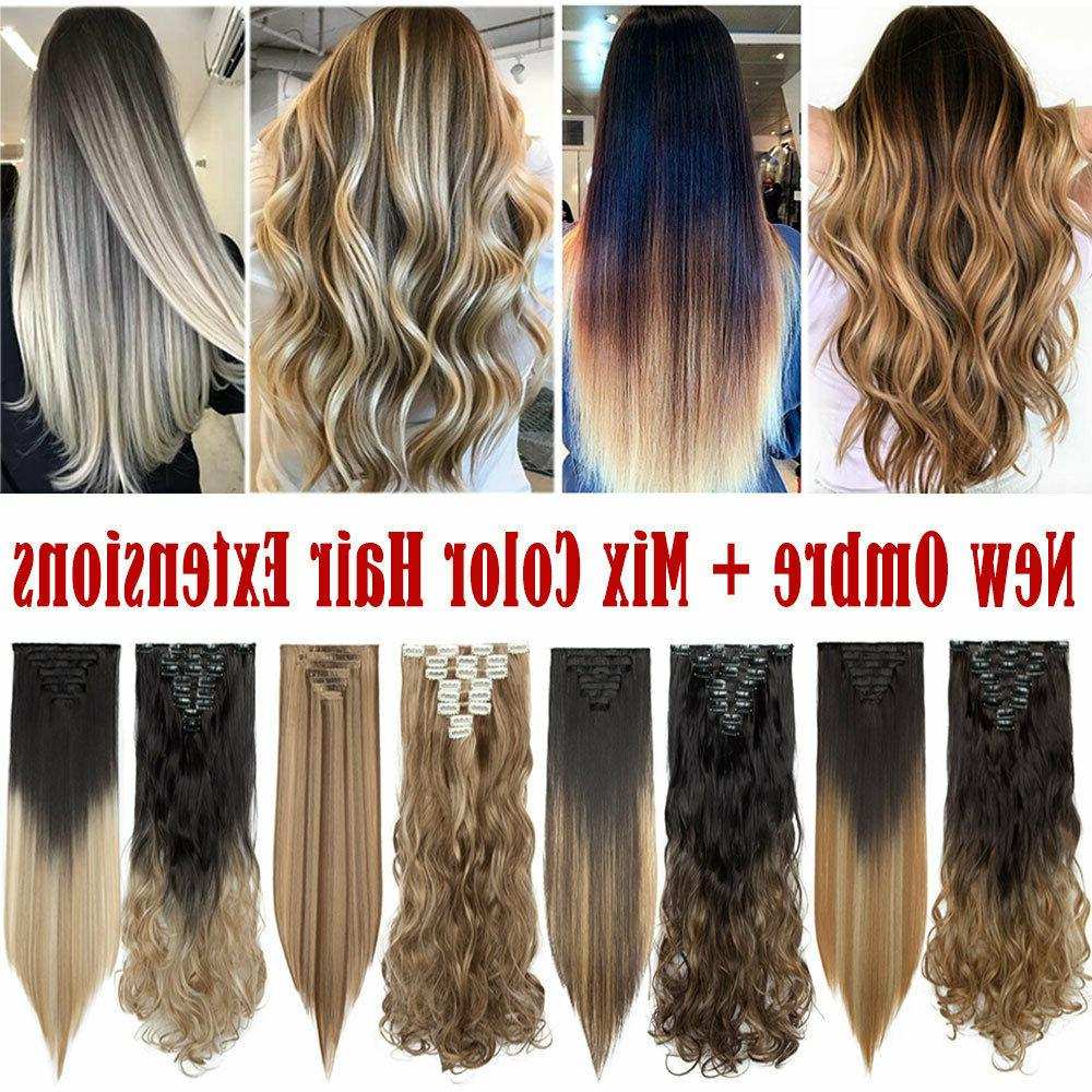 100% Real Natural as human Hair Head Extensions Synthetic
