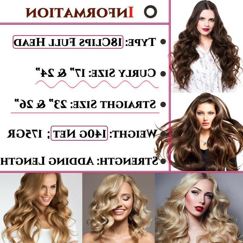 100% in Hair Pieces Full Head As